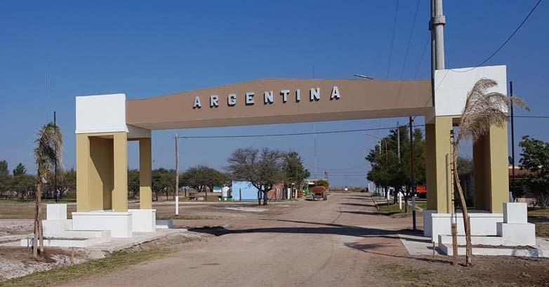 Pórtico de acceso a Argentina