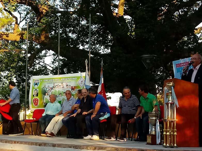 Acto central en la plaza 9 de julio