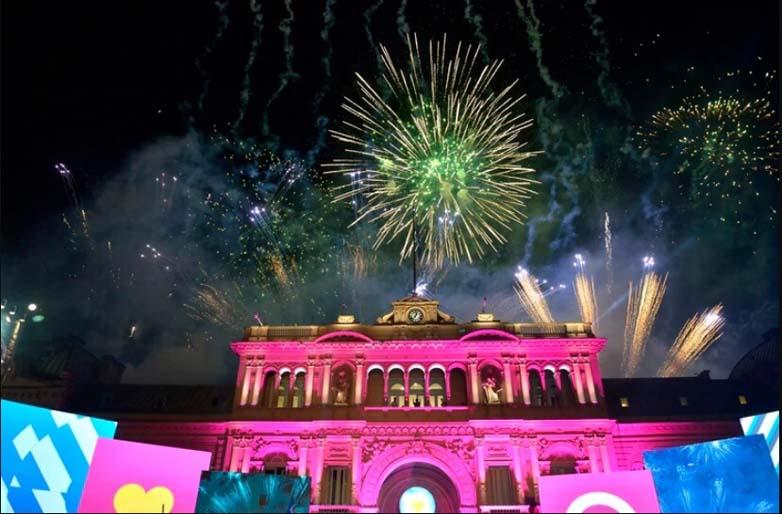 casa rosada fuegos artificiales