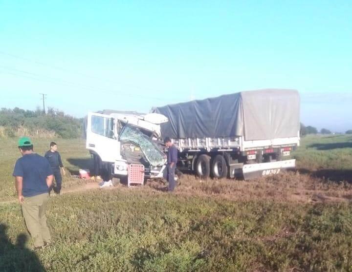 choque frontal de camiones