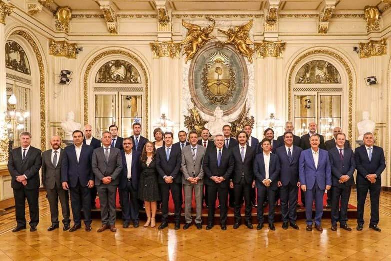 Gobernadores con Fernández