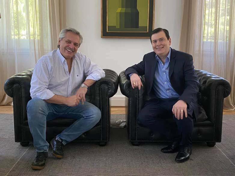 Zamora con Alberto Fernandez