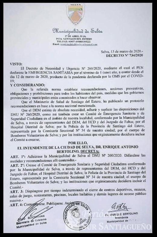 decreto emergencia sanitaria