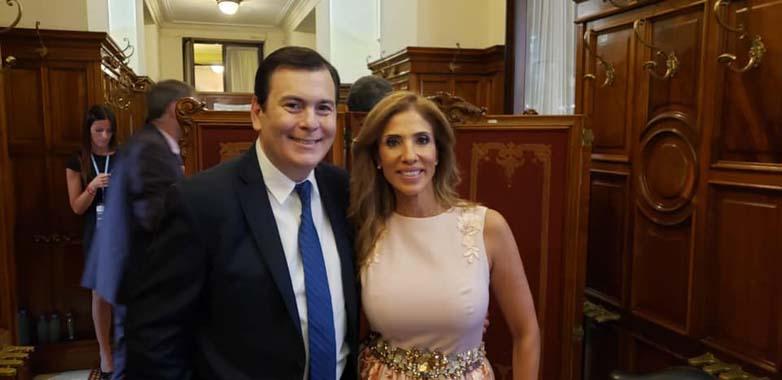 Gerardo Zamora con Claudia Zamora