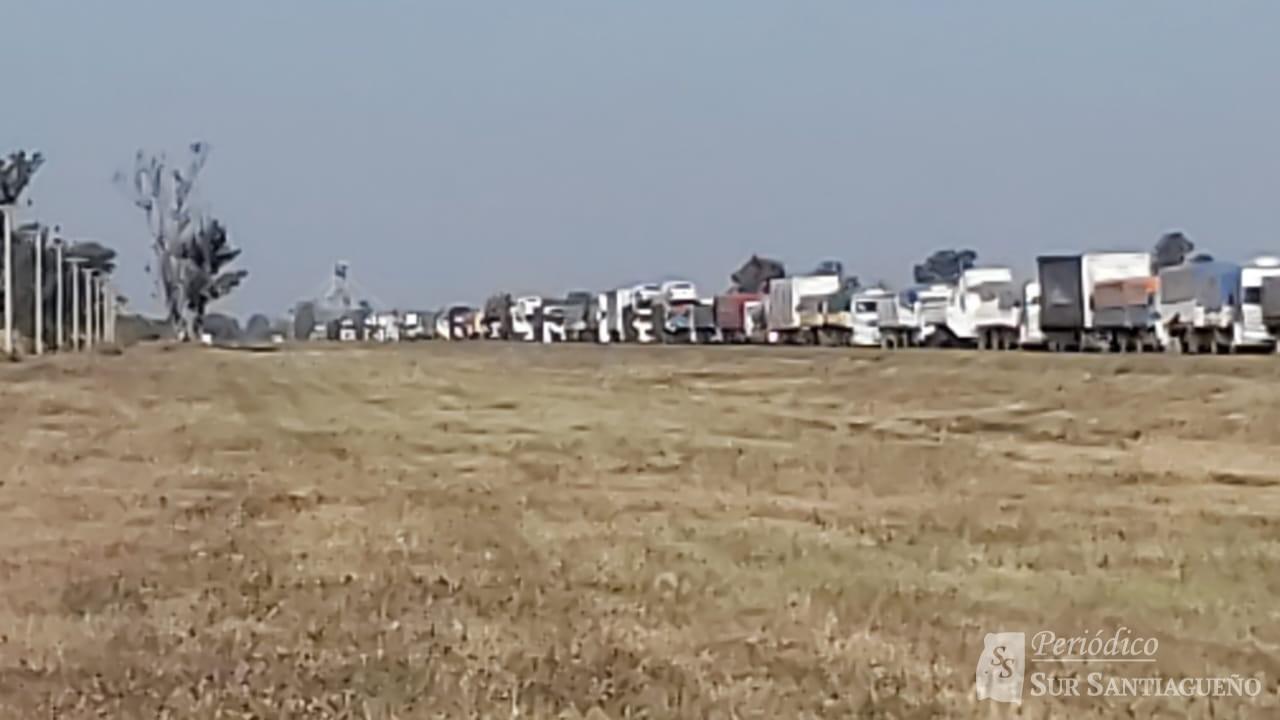 cola camiones
