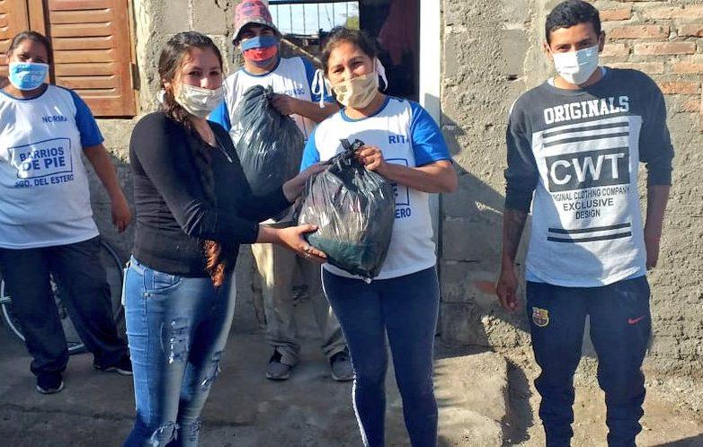 donaciones barrios de pie