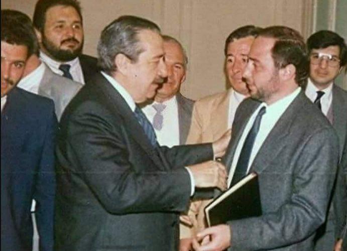 Hector Farias con Alfonsin