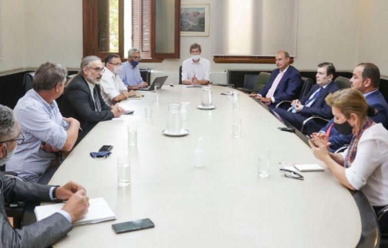 Zamora con Basterra y CEO Emiratos