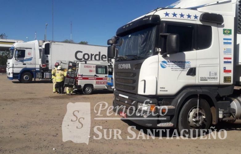 camion cuerpo sin vida